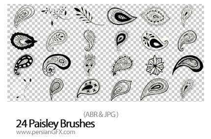 مجموعه براش های بت و جقه - 24 Paisley Brushes