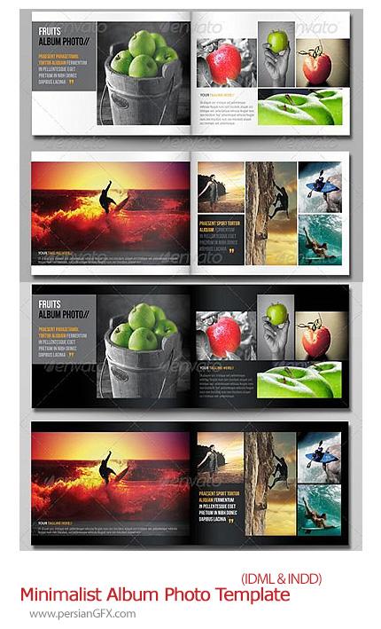 دانلود تصاویر ایندیزاین نمونه آلبوم مینیمالیست گرافیک ریور  - Graphic River Minimalist Album Photo Template