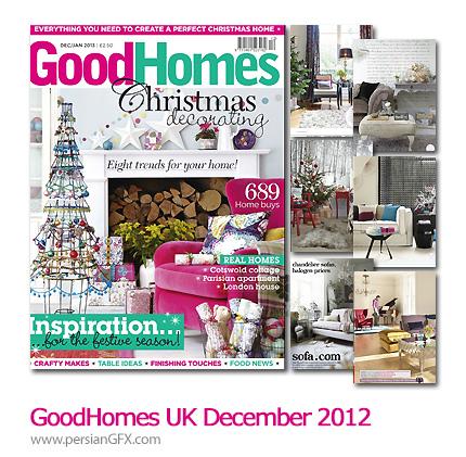 دانلود مجله طراحی داخلی خانه برای کریسمس - GoodHomes UK December 2012