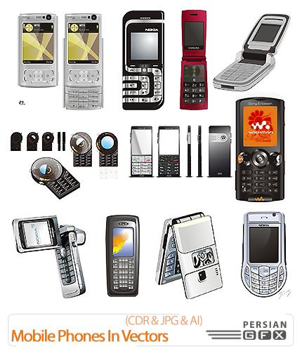 دانلود تصاویر کورل مدل های متنوع تلفن همراه - 27 Mobile Phones In Vectors
