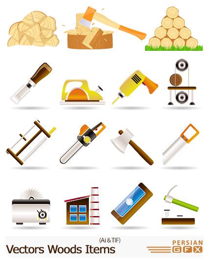 دانلود تصاویر لوگوهای چوب و ابزار نجاری