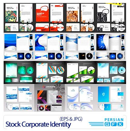 دانلود تصاویر وکتور مجموعه ست اداری شامل طرح سربرگ، لیبل دی وی دی، پاکت نامه و کارت ویزیت از شاتر استوک - Amazing Shutter Stock Corporate Identity