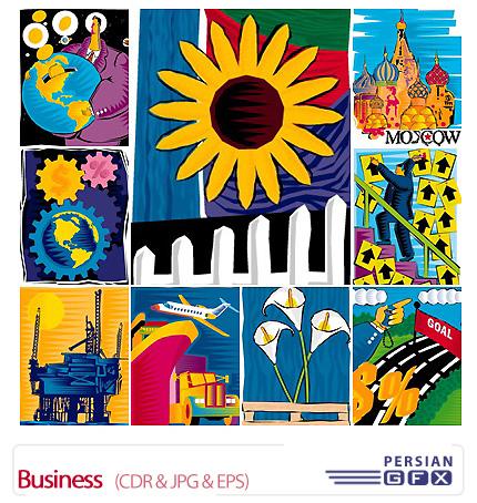 دانلود تصاویر کورل فانتزی کسب و کار متنوع - Business