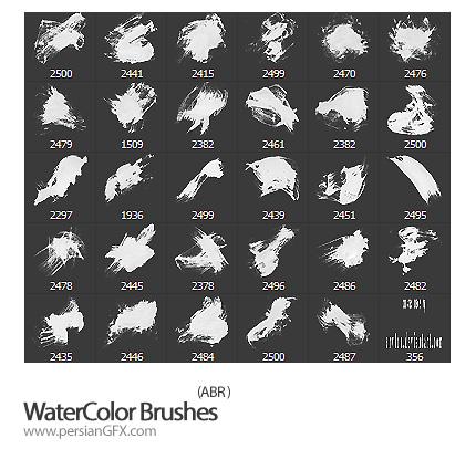 دانلود براش ایجاد لکه های پررنگ آبرنگ - WaterColor Brushes