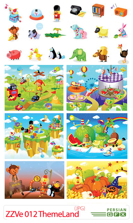 دانلود تصاویر با کیفیت پس زمینه های فانتزی - ZZVe 012 ThemeLand