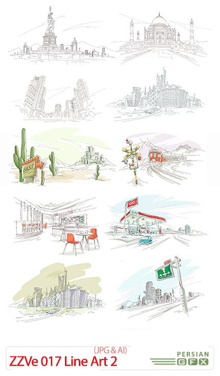دانلود تصاویر وکتور رنگ آمیزی نقاشی - ZZVe 017 Line Art 02