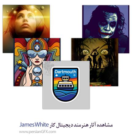 مشاهده آثار هنرمند دیجیتال کار James White