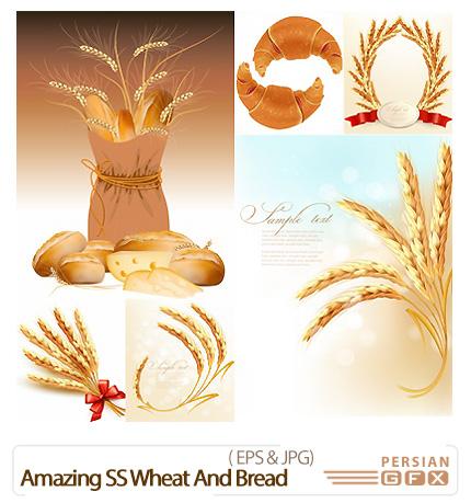 دانلود تصاویر وکتور گندم و نان از شاتر استوک - Amazing ...دانلود تصاویر وکتور گندم و نان از شاتر استوک - Amazing ShutterStock Wheat And Bread