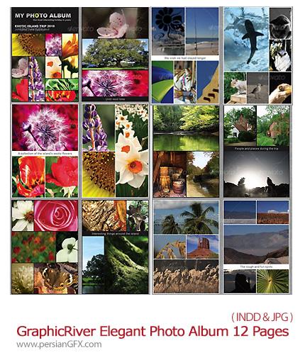 دانلود تصاویر ایندیزاین قالب های آماده مجله عکاسی از گرافیک ریور - GraphicRiver Elegant Photo Album 12 Pages