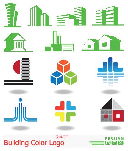 دانلود تصاویر لوگوهای ساختمانی رنگارنگ - Building Color Logo ...دانلود تصاویر لوگوهای ساختمانی رنگارنگ - Building Color Logo