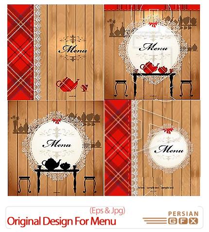 دانلود مجموعه تصاویر وکتور طرح های متنوع منوی رستوران - Original Design For Menu
