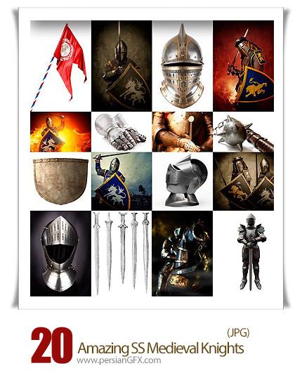 دانلود تصاویر با کیفیت لباس و سلاح شوالیه های قرون وسطی از شاتر استوک - Amazing ShutterStock Medieval Knights