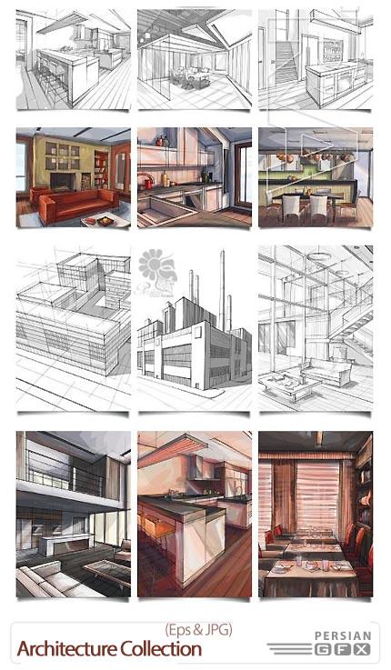 دانلود تصاویر وکتور طرح های اولیه و رنگ آمیزی معماری - iStockPhoto Architecture Collection