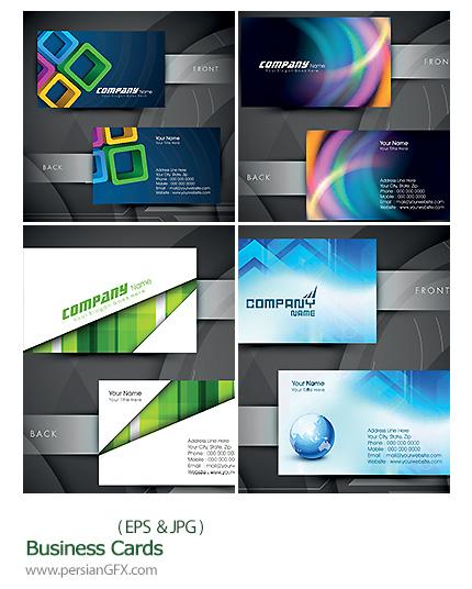 دانلود تصاویر وکتور کارت ویزیت فانتزی - Business Cards
