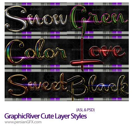 دانلود تصاویر استایل جذاب و فانتزی از گرافیک ریور - GraphicRiver Cute Layer Styles