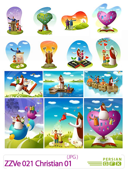 دانلود تصاویر با کیفیت کارتونی زندگی مسیح - ZZVe 021 Christian 01