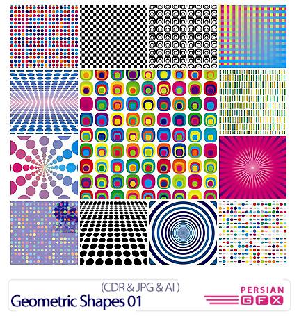 دانلود تصاویر کورل اشکال هندسی - Geometric Shapes 01