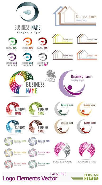 دانلود تصاویر وکتور لوگوی ساختمانی - Logo Elements Vector