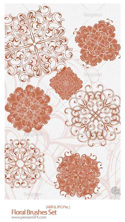 دانلود براش گل های تزئینی - Floral Brushes Set