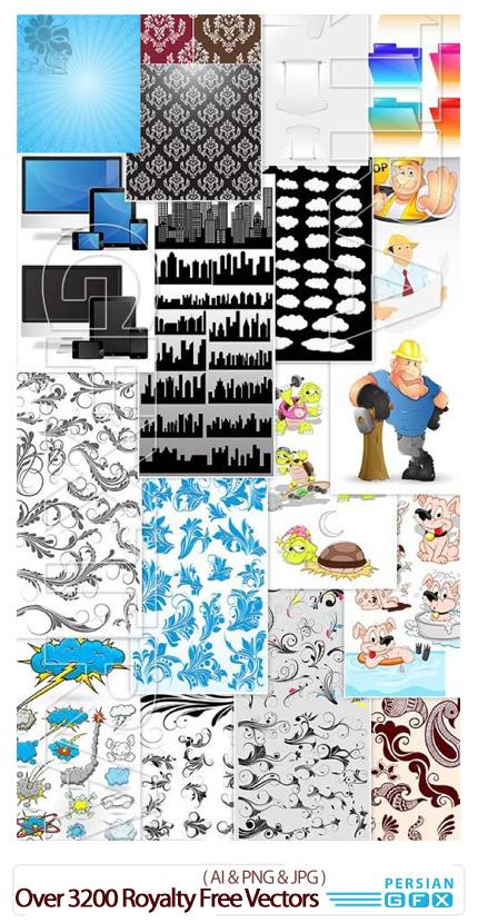 دانلود مجموعه بیش از 3200 وکتور، وب، کارتونی، بافت، مناسبت ها - Inkydeals Over 3200 Royalty Free Vector