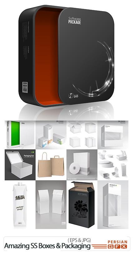 دانلود تصاویر وکتور باکس، بسته بندی، پکیج،کیف از شاتر استوک - Amazing ShutterStock Boxes & Packaging