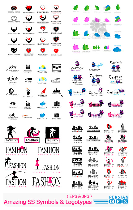 دانلود تصاویر وکتور لوگوهای متنوع از شاتر استوک - Amazing ShutterStock Symbols & Logotypes