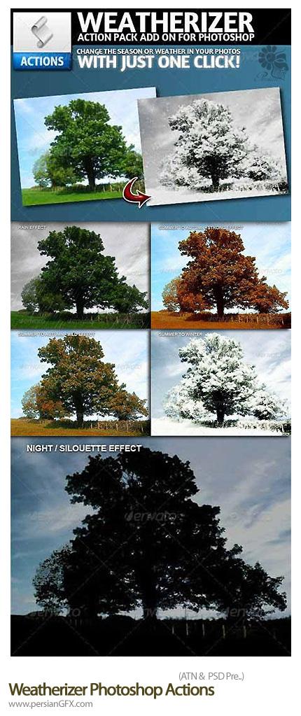 دانلود اکشن تغییر فصول در تصاویر - Weatherizer Photoshop Actions