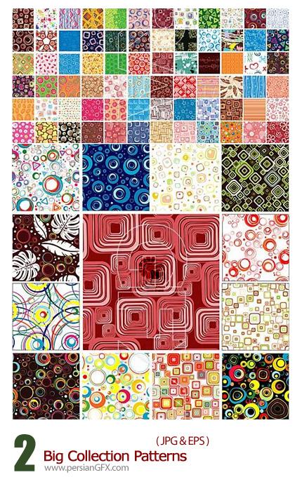 دانلود تصاویر وکتور پترن های متنوع - Big Collection Patterns