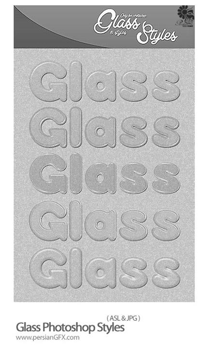 دانلود استایل افکت های شیشه ای - Glass Photoshop Styles