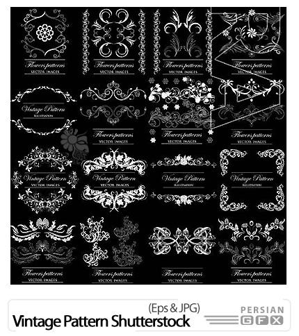 دانلود تصاویر وکتور پترن های تزئینی از شاتر استوک - Vintage Pattern Shutterstock