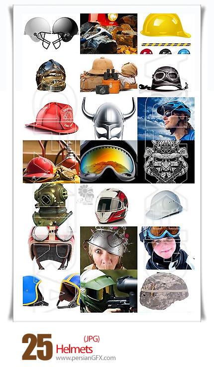 دانلود تصاویر با کیفیت کلاه ایمنی، کلاه مهندسی، کلاه ساختمان سازی، موتورسواری - Helmets collection
