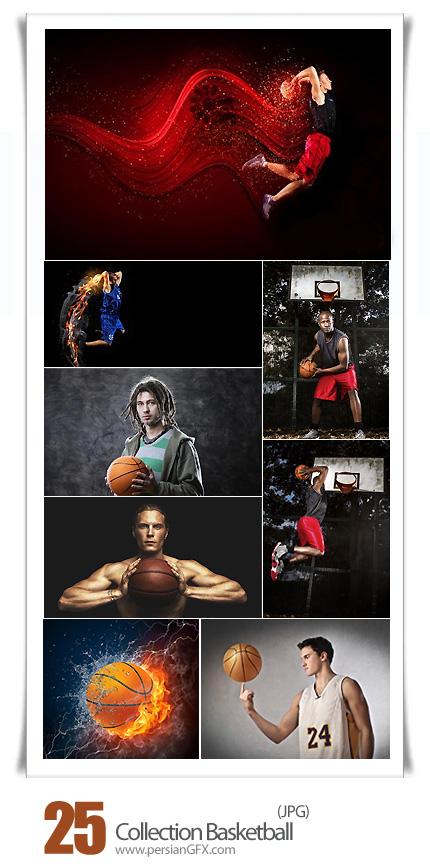 دانلود تصاویر با کیفیت بسکتبال، توپ بسکتبال، بسکتبالیست - Collection Basketball