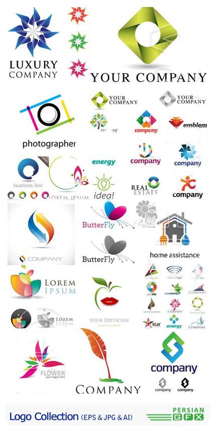 دانلود تصاویر وکتور لوگوهای متنوع از فوتولیو - Fotolio Logo Collection