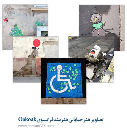 تصاویر هنر خیابانی هنرمند فرانسوی oakoak