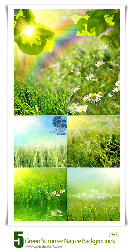 دانلود تصاویر با کیفیت پس زمینه های طبیعت سبز تابستان - Green Summer Nature Backgrounds