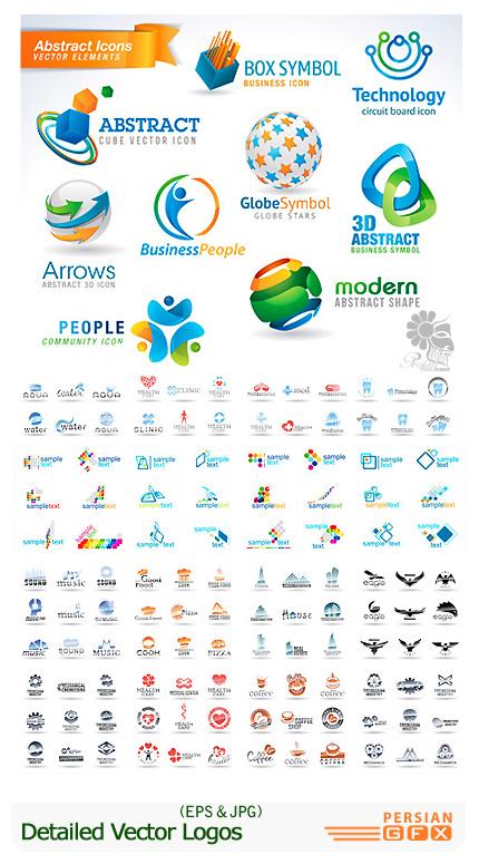 دانلود تصاویر وکتور لوگوهای تجاری و انتزاعی - Detailed Vector Logos