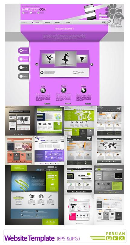 دانلود تصاویر وکتور قالب های آماده وب - Website Template