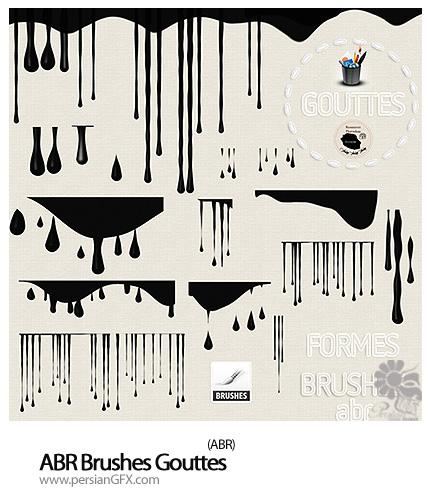 دانلود براش قطره های سرآزیری رنگ - ABR Brushes Gouttes