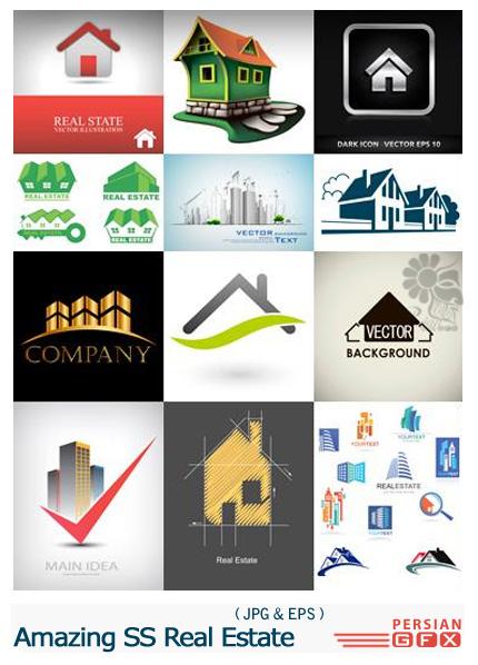 دانلود مجموعه تصاویر لوگوی ساختمان و املاک از شاتر استوک - Amazing ShutterStock Real Estate