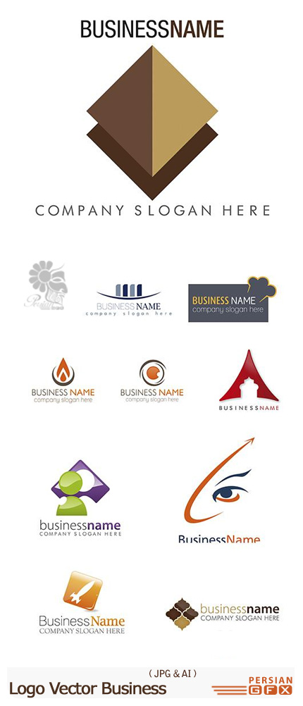 دانلود تصاویر وکتور لوگوهای تجاری - Logo Vector Business