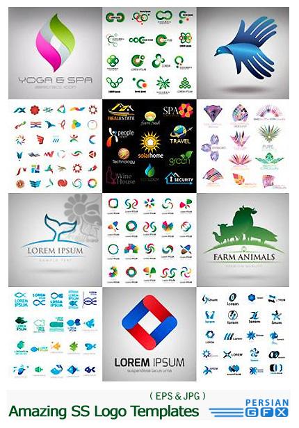 دانلود وکتور لوگوهای متنوع از شاتر استوک - Amazing ShutterStock Logo Templates