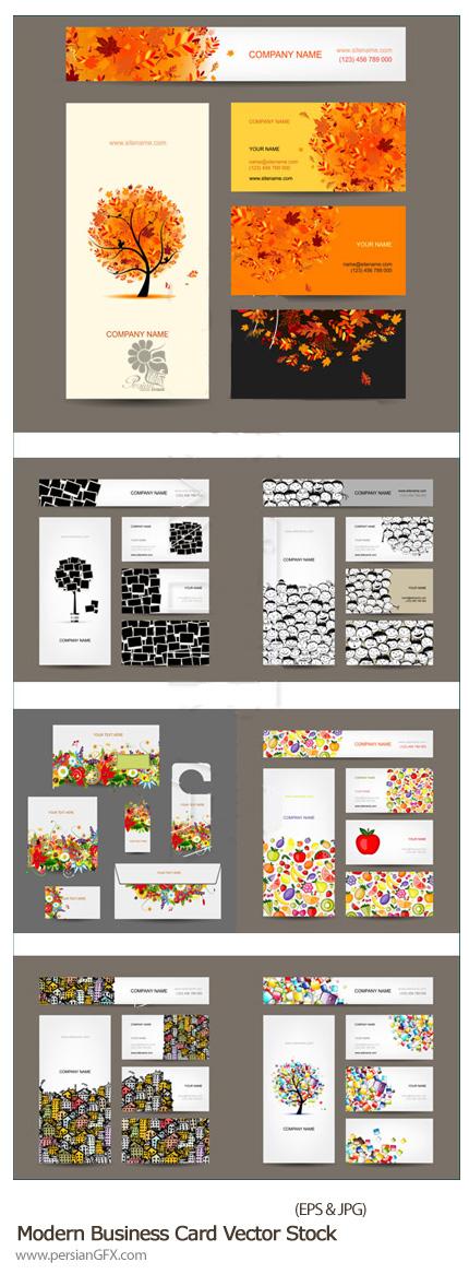 دانلود تصاویر وکتور کارت ویزیت مدرن - Modern Business Card Vector Stock