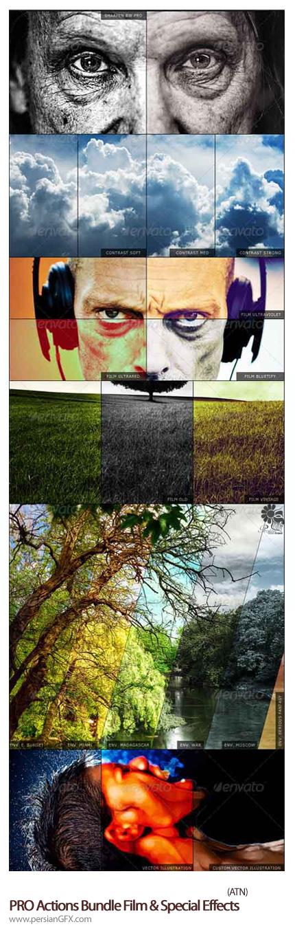 دانلود اکشن افکت های ویژه فیلم از گرافیک ریور - Graphicriver PROActions Bundle Film & Special Effects