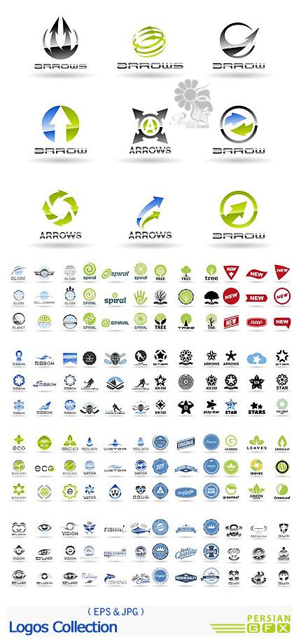 دانلود تصاویر وکتور لوگوهای متنوع - Logos Collection