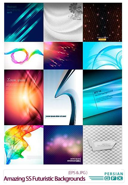 دانلود تصاویر وکتور پس زمینه های انتزاعی از شاتر استوک - Amazing ShutterStock Futuristic Backgrounds