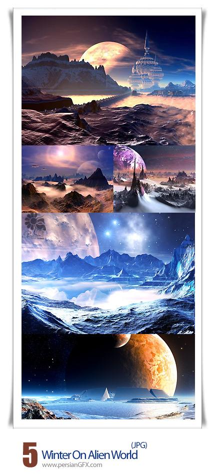 دانلود تصاویر با کیفیت زمستان در سرزمین عجایب - Winter On Alien World