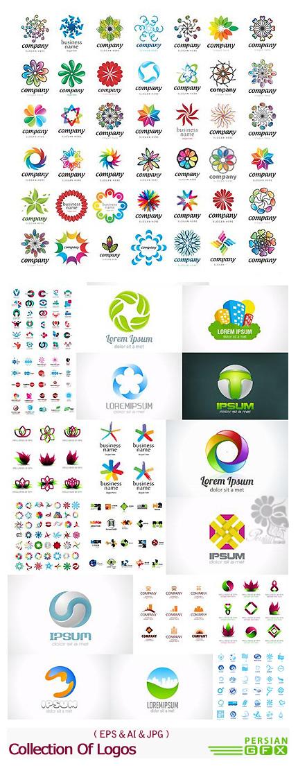 دانلود تصاویر وکتور آرم و لوگوی گلدار انتزاعی - Collection Of Logos