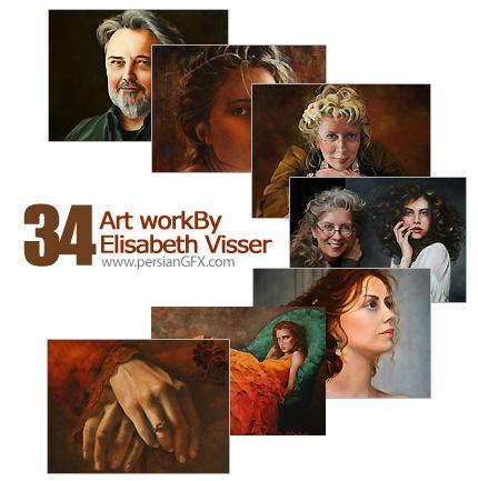 دانلود مجموعه تصاویر هنری از آثار Elisabeth Visser - Artworks Of Elisabeth Visser