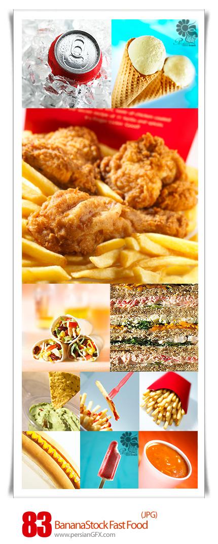 دانلود تصاویر با کیفیت فست فود، بستنی، نوشابه - BananaStock Fast Food