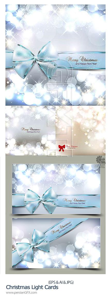 دانلود تصاویر کارت های تبریک تزئینی کریسمس - Christmas Light Cards